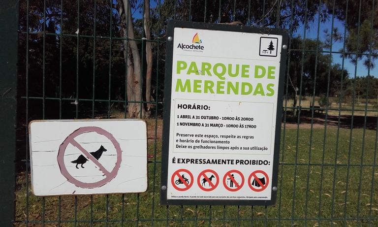 Placa Parque de Merendas