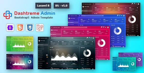 Best Laravel 8+ Bootstrap5 Admin Template