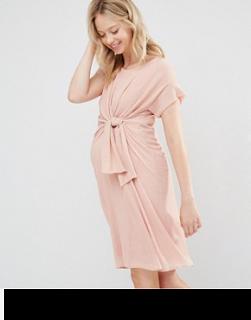 mamalicious tie front maternity dress