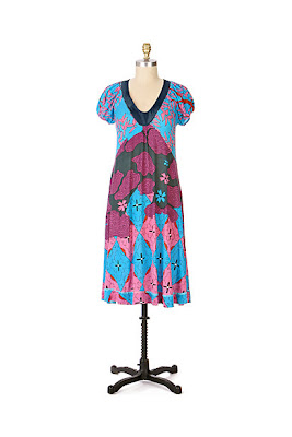 Anthropologie Topographic Dress by Aoyama Itchome