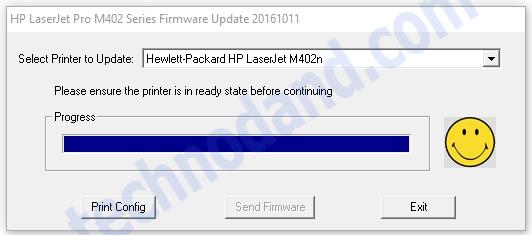 Update firmware Hp Laser Jet Pro 402n