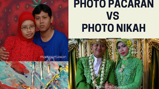 photo pacaran vs photo nikah