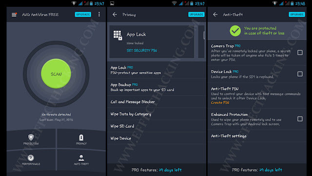 AVG AntiVirus Screenshots