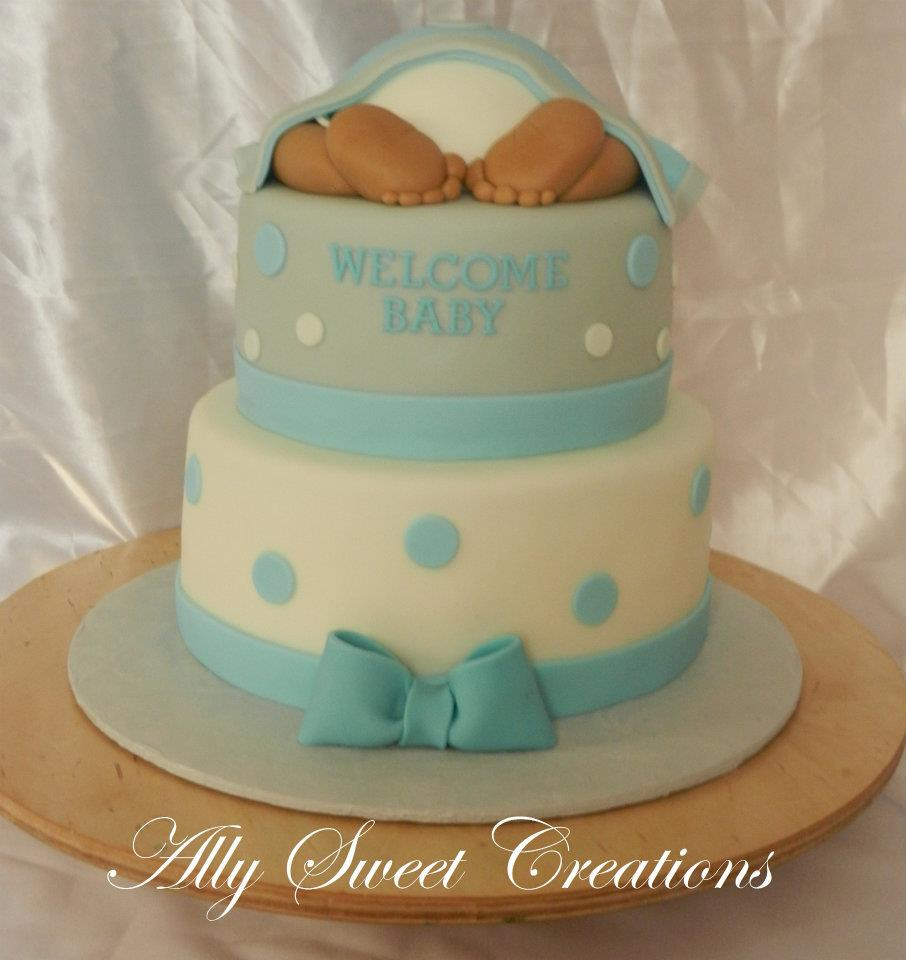 Ally Sweet Creations : Baby Feet ...Baby Shower Cake