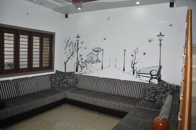 Bion Interior Graphics Interior Wall Graphic For Drawing Room