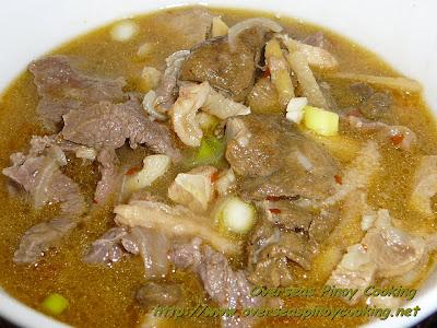 Mama Sita's Mix Beef Pinapaitan, Papaitan