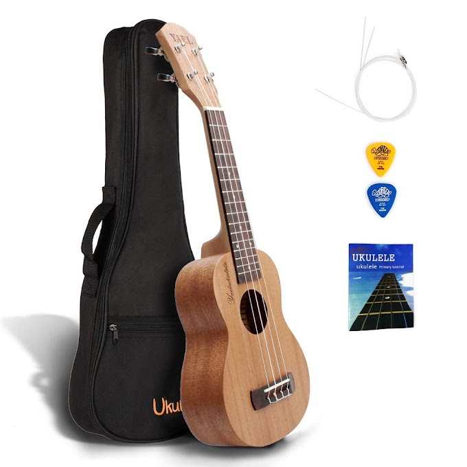 AMAZON - 50% off  Ukulele 21 Inch with Carrying Bag Pick Strap Spare Till July 31st Strings