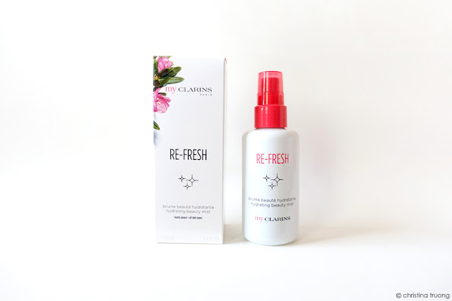 My Clarins Re-Fresh Hydrating Beauty Mist Product Review