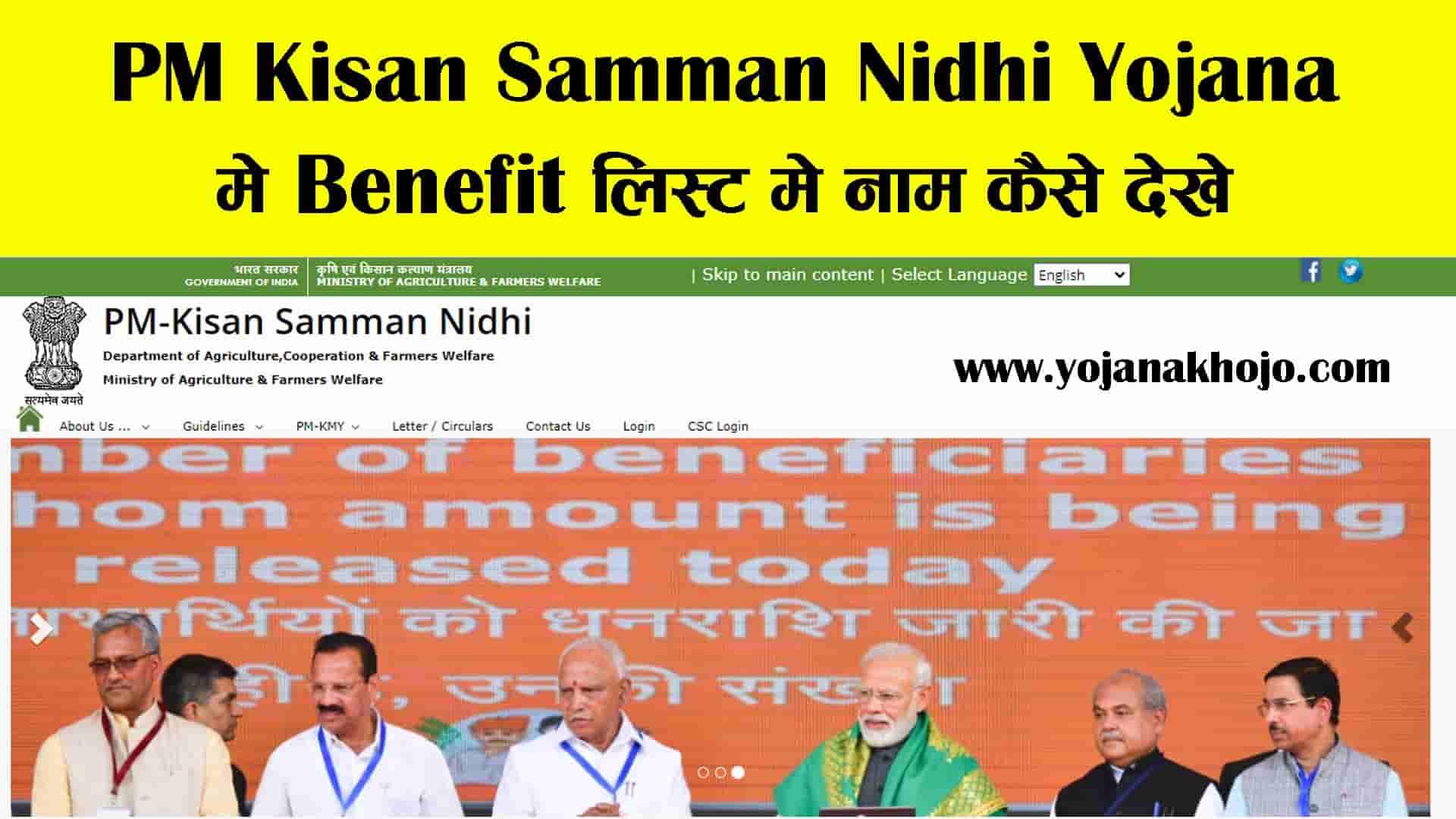 PM Kisan Benefit List 2020