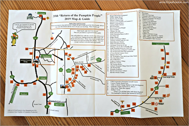 Mapa del Return of the Pumpkin People de Jackson en New Hampshire