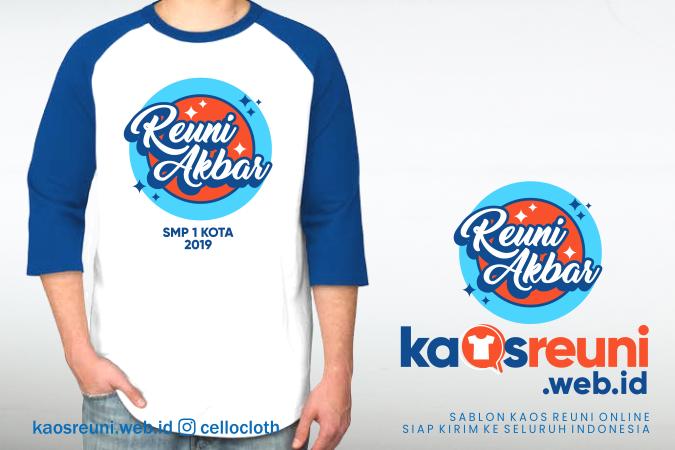 Desain Kaos Reuni Akbar SMA 1 Kota 2019 - Sablon Kaos Reuni