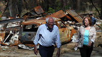 Sanders  Visits Paradise, CA (Credit: Justin Sullivan / Getty Image) Click to Enlarge.