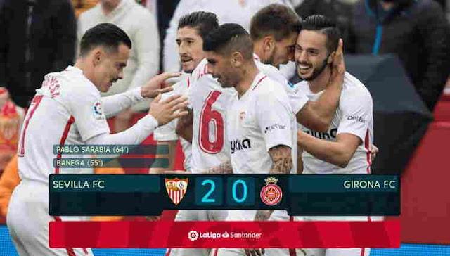 Replay Gol Sevilla vs Girona Skor Akhir 2-0