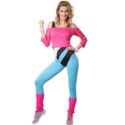 LETS GET PHYSICAL OLIVIA NEWTON JOHN 1980S WORK OUT ADULT WOMENS COSTUME
