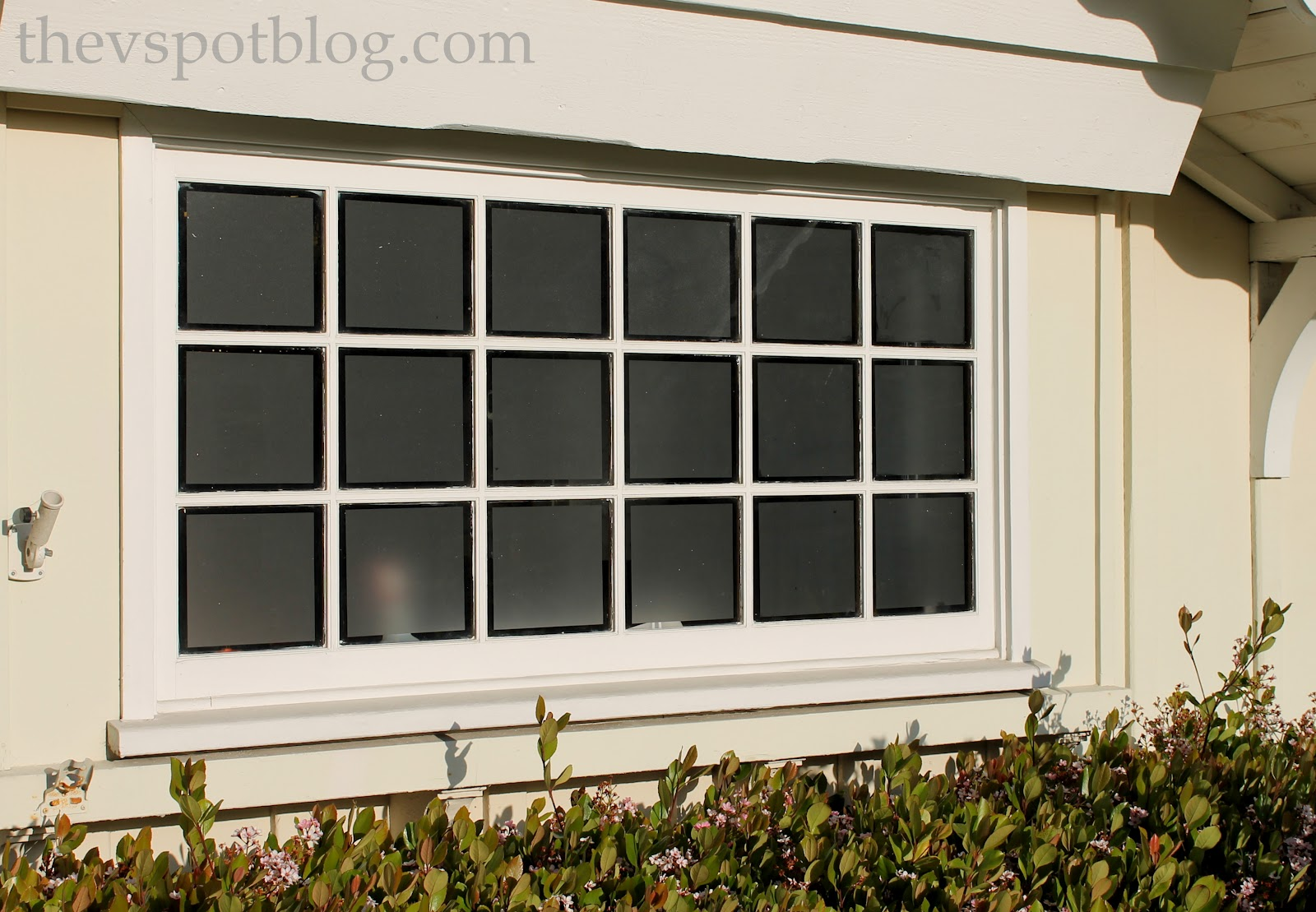 frosted glass window film adds privacy to garage windows decorative window film blog. Black Bedroom Furniture Sets. Home Design Ideas