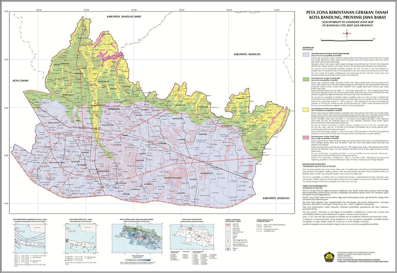 Peta Digital Zona Gerakan Tanah Indonesia Gratis