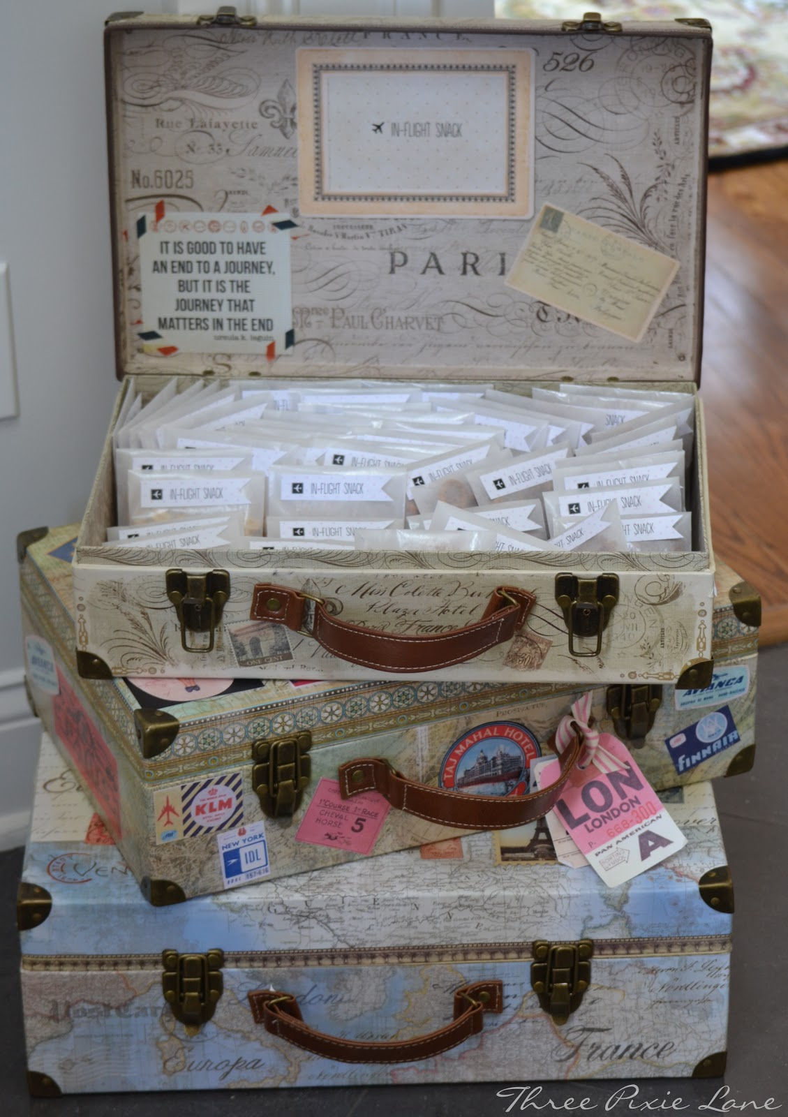 Three Pixie Lane A Travel Themed Baby Shower Oh Baby
