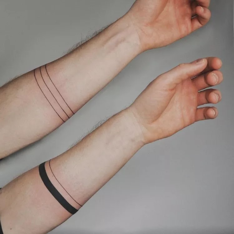 Thin and simple Armband Tattoo Design Ideas