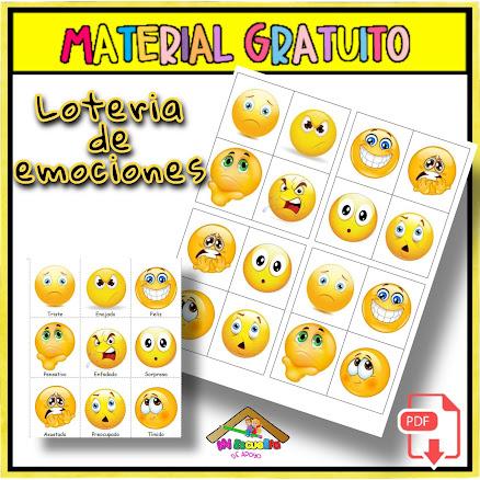 lotería de las emociones para imprimir