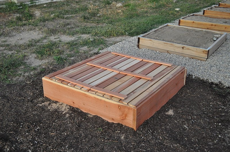 Mrs Home Ec Covered Fold Out Bench Sandbox