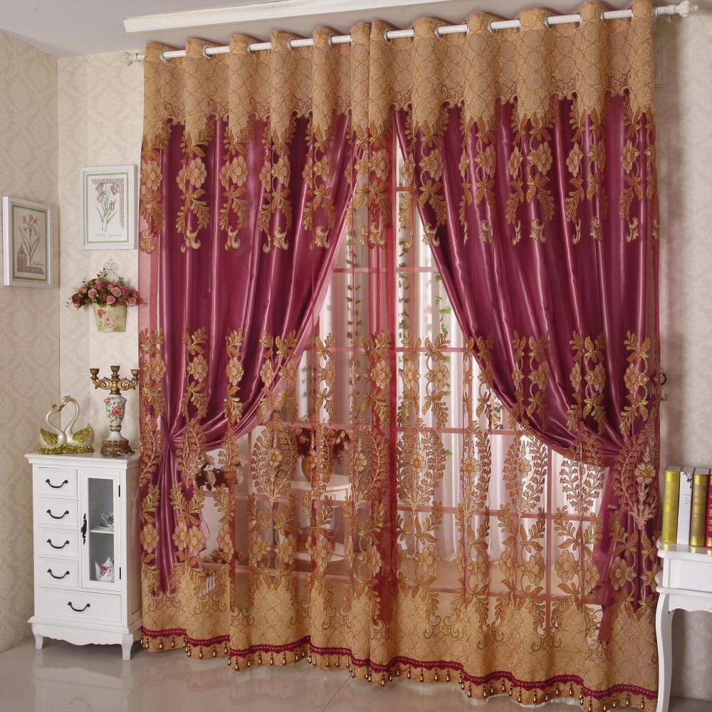 Tulle Fabric Curtains For Drawing Room Windows