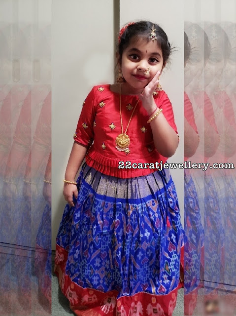 Cute Kid in Lakshmi Pendant