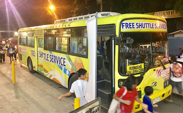 Free Ride to Robinsons Galleria Cebu