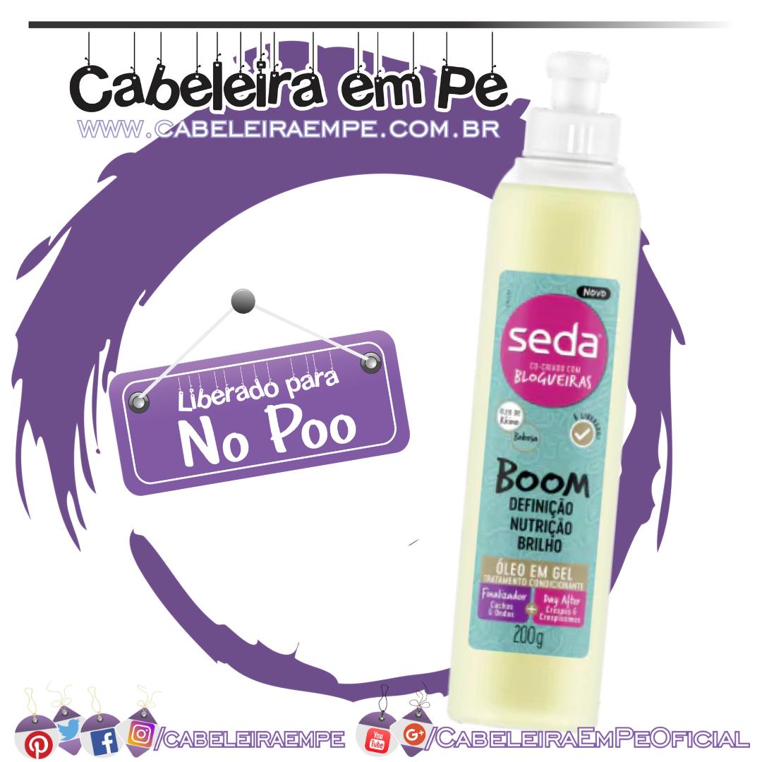 Tratamento Condicionante Seda Boom Óleo em Gel - Seda (No Poo)