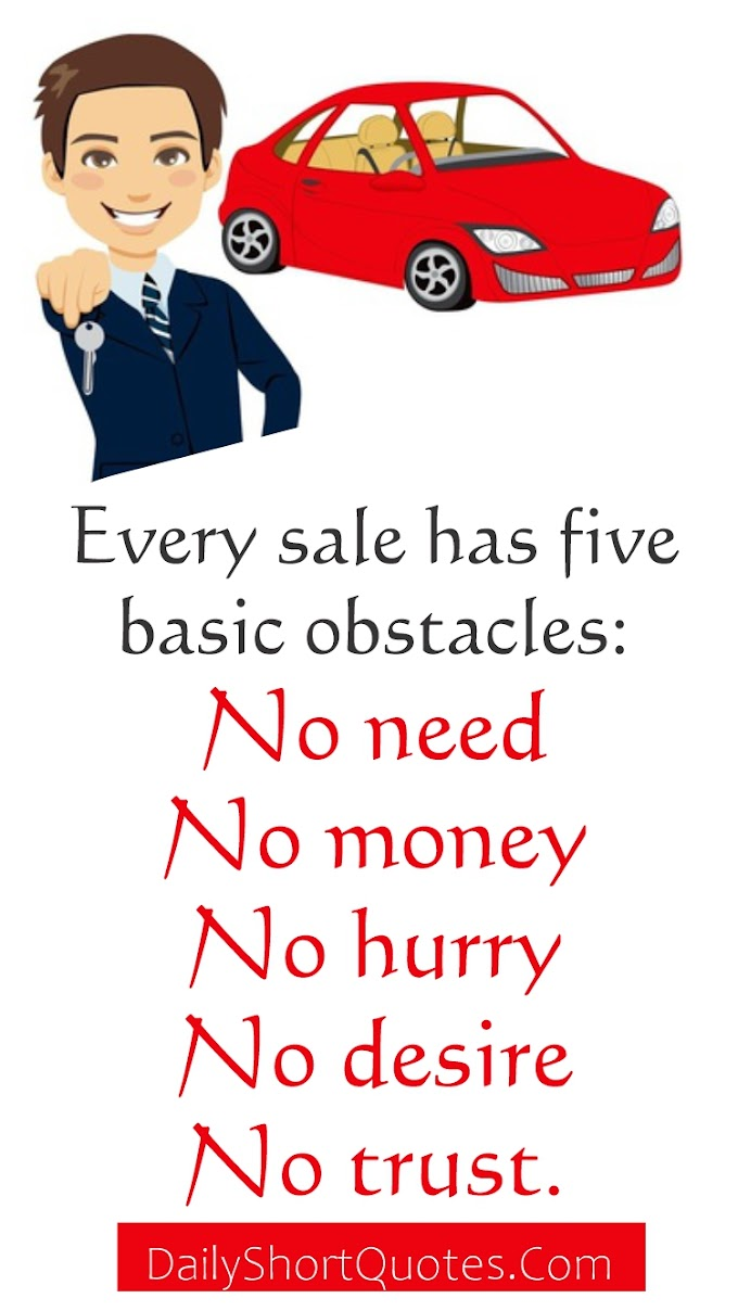 Best Quotes On Car Sales Obstacles