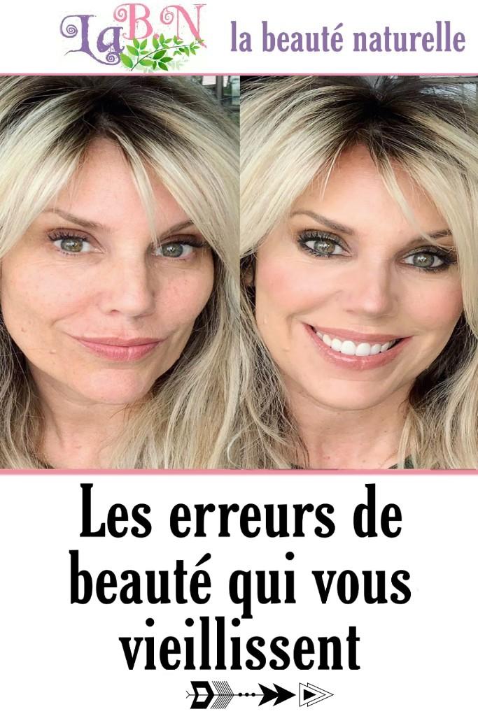 Les erreurs de beauté qui vous vieillissent