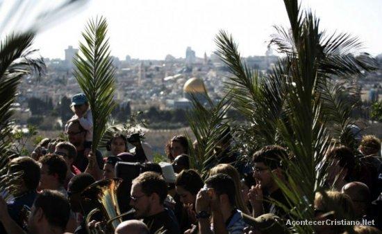 Celebración del Domingo de Ramos en Jerusalén