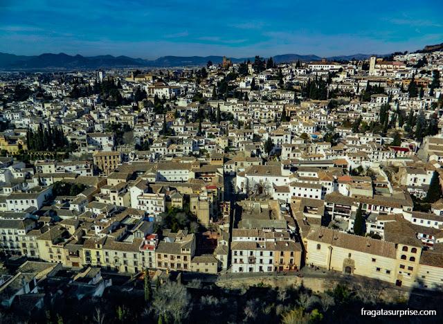 A Carrera del Darro vista da Alhambra