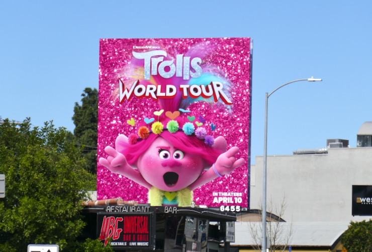 Poppy Trolls World Tour billboard