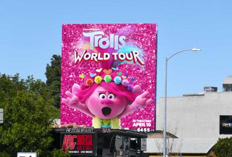 Poppy Trolls World Tour billboard