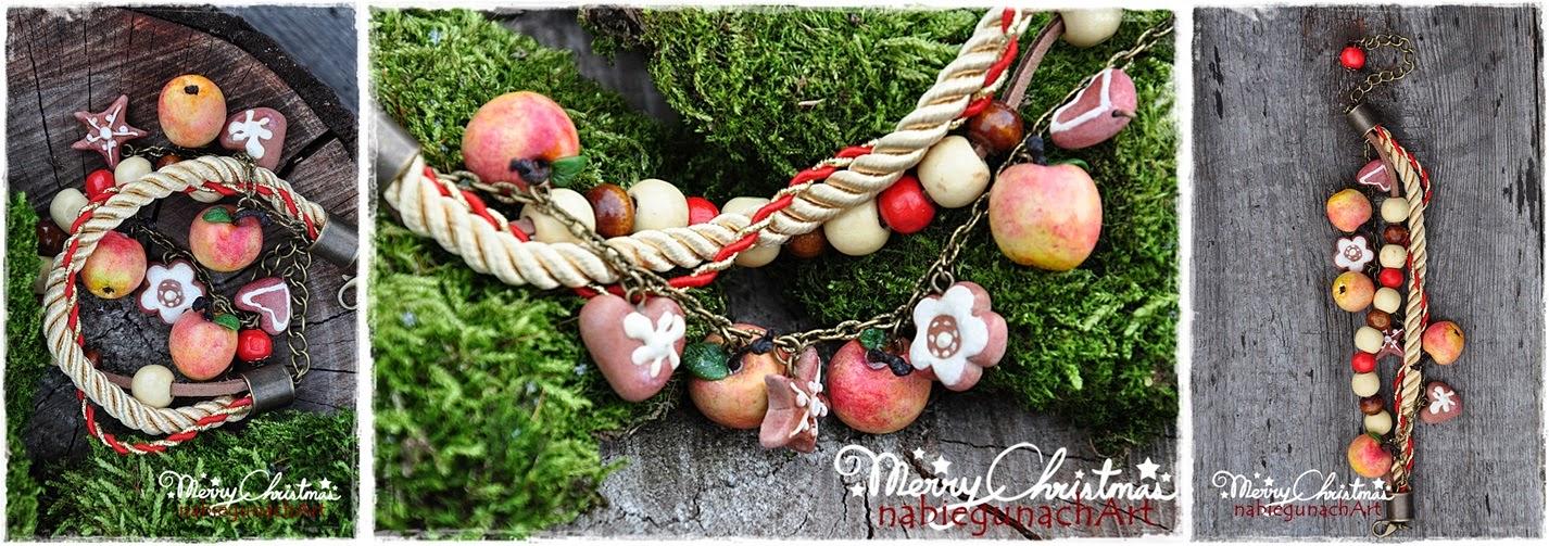 Bransoletka z jabłuszkami