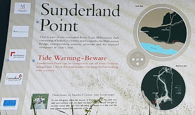 Some interesting info and warnings on a sign at Sunderland Point