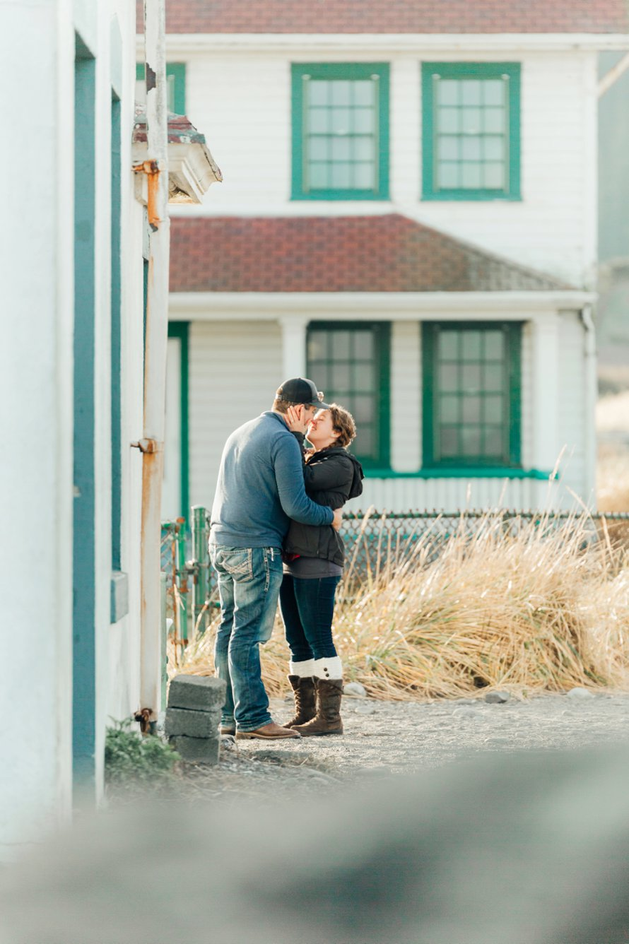 Surprise Proposal-Beach Engagement Session-Fort Worden Photography by Something Minted
