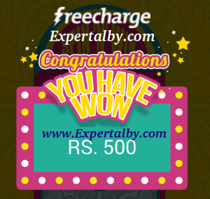 FreeCharge Spin and win proof screenshot