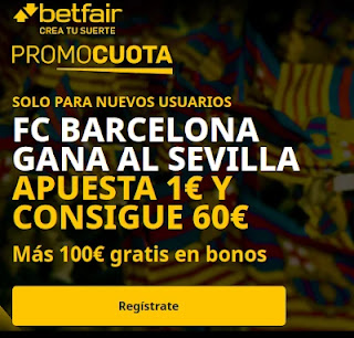 promocuota betfair Sevilla v Barcelona 27-2-2021