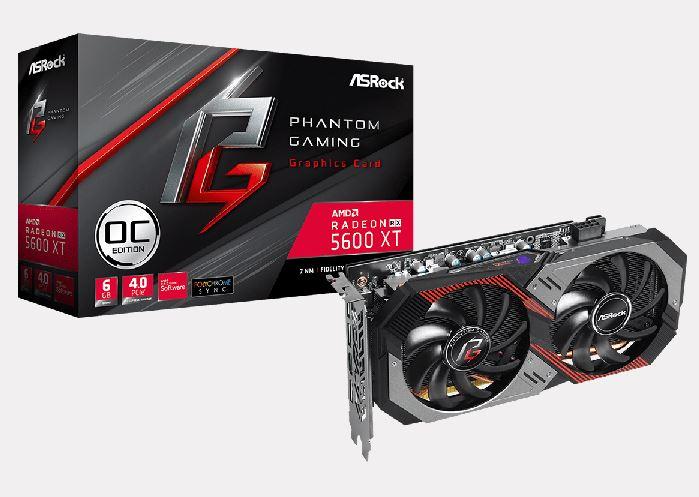 Phantom Gaming D3 6G OC, Radeon RX 5600 XT Phantom Gaming D2 6G OC