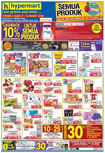 Katalog Promo HYPERMART JSM Akhir Pekan Periode 09 - 14 Maret 2018