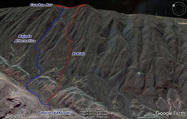 Trekking, sierras azules, cumbre sur, caminata, san juan,