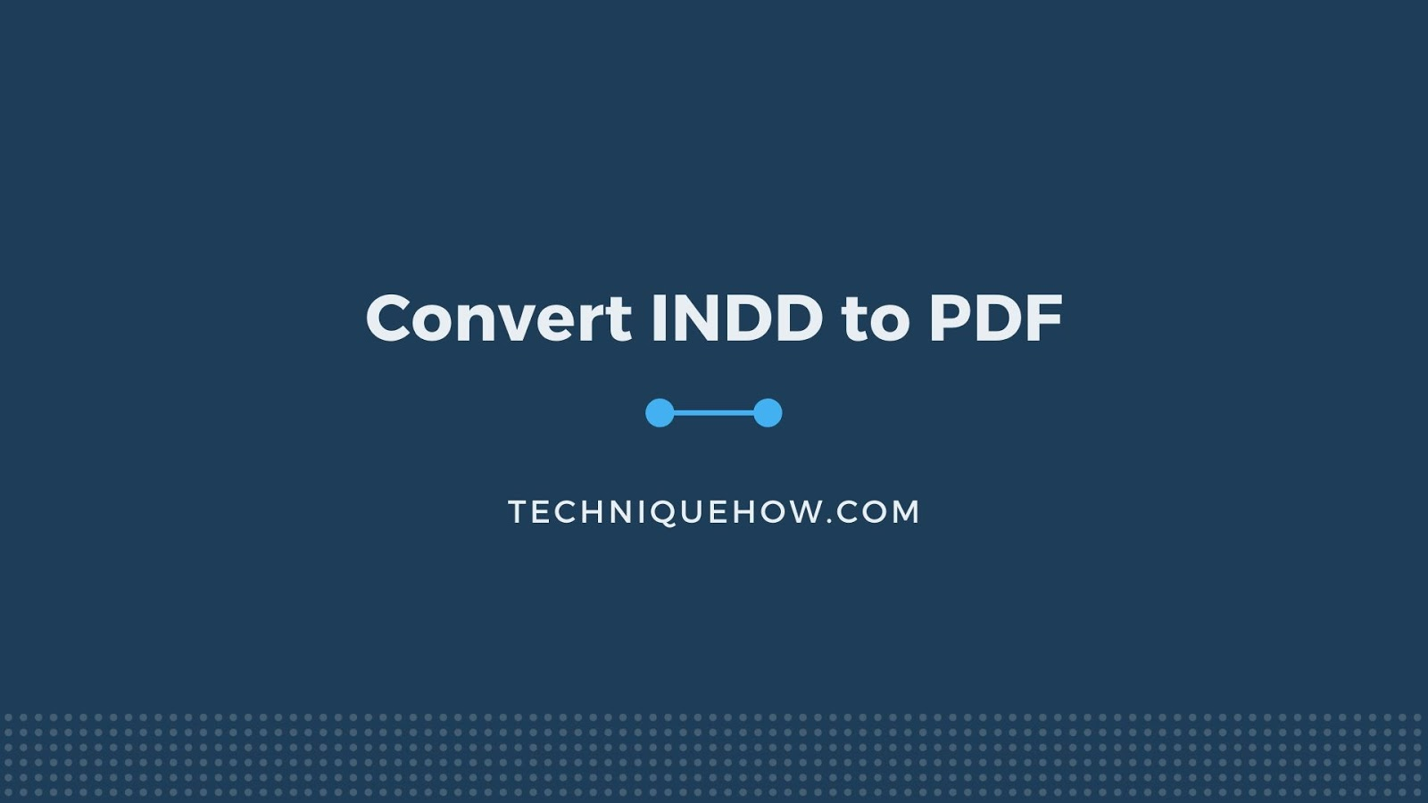 InDesign to PDF