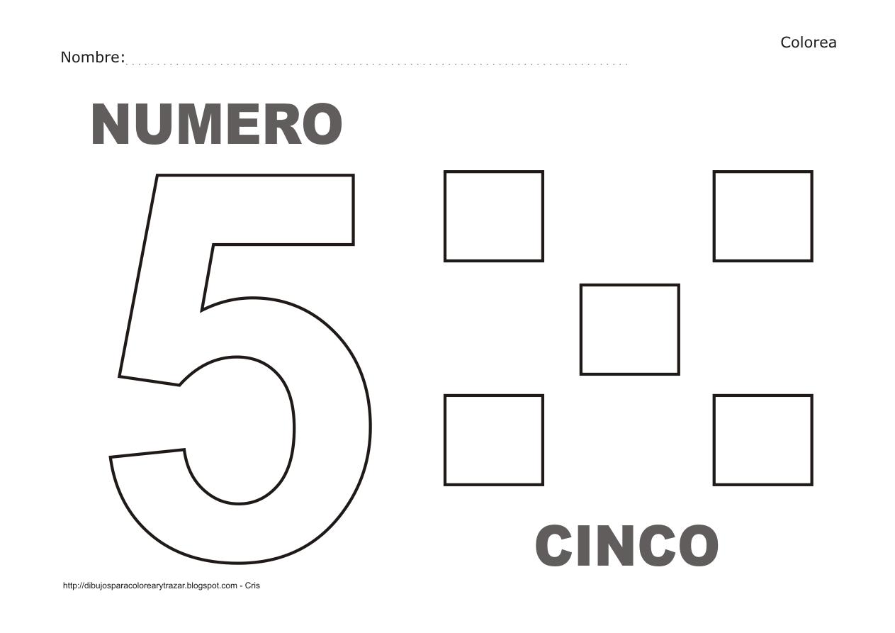 Numero 5 Para Colorear Infantil Colorear Nmeros