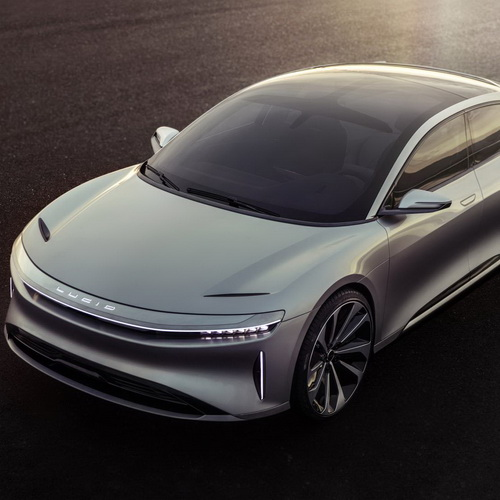 Tinuku Lucid Air electric cars by Lucid Motors luxury design, high tech, 1000 horsepower and 400 miles range