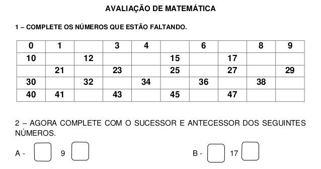 23 09 B 1 Atividades Preparatórias 2 Ofertas: 1º Ano Completar Números, Pares E Ímpares E Dezenas