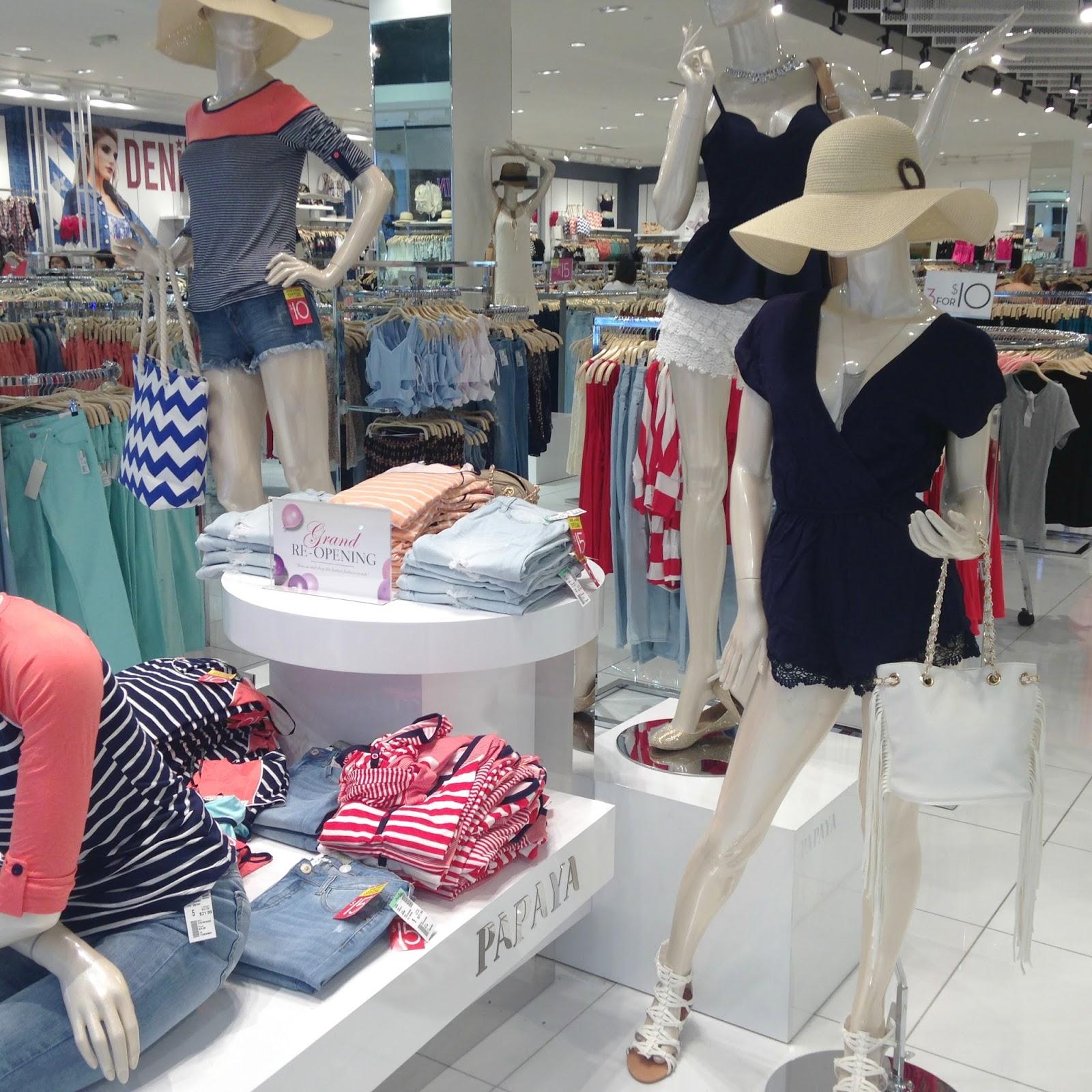 Papaya clothing stores