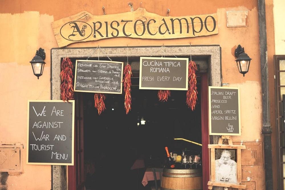 Una cena nel cuore di Roma: Aristocampo Trastevere