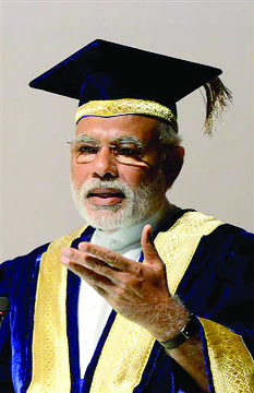 All speculation can rest, PM Modi did pass out of Gujarat University in 1983 with a first class degree in Master of Arts in Political Science.  He passed MA as an external student, but with distinction scoring of 62.3 per cent.  An old interview that had surfaced recently shows Modi quite accurately claiming that he had passed his MA with flying colours.