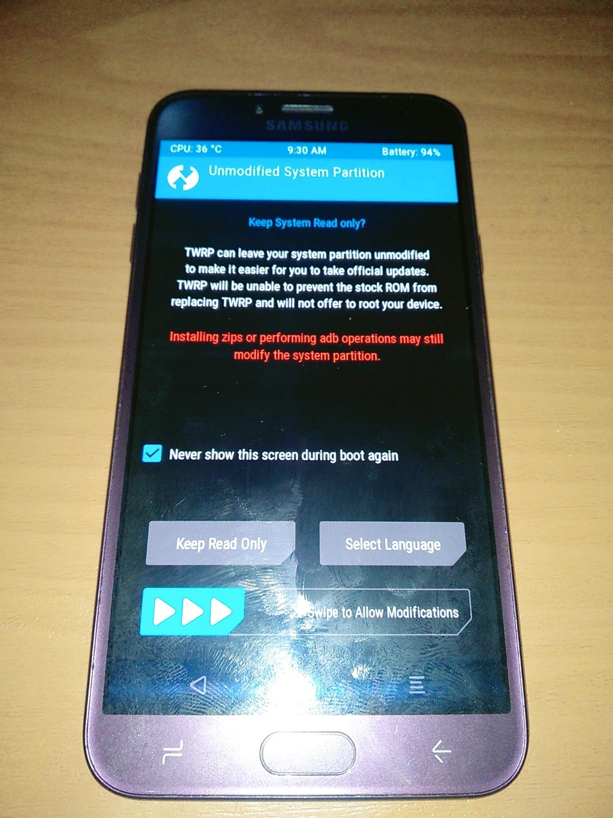 Cara Install TWRP Official Samsung J4 SM-J400G
